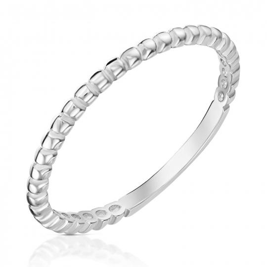 Srebrny pierścionek Trójnik