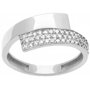 Srebrny pierścionek Asymetryczny Piękny wzór