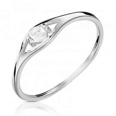 Srebrny pierścionek Łezka