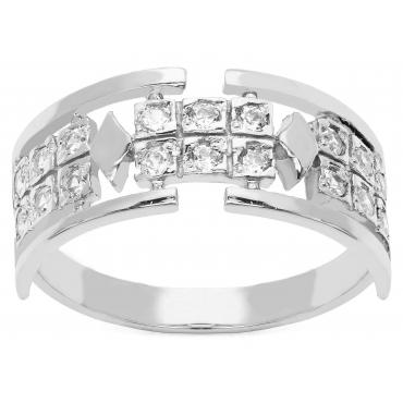 Srebrny pierścionek Piękny wzór Obrączka
