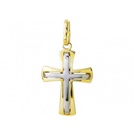 PIĘKNY ZŁOTY KRZYŻYK Chrzest Komunia
