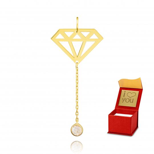 Złoty wisiorek celebrytka Diamonds próba 585