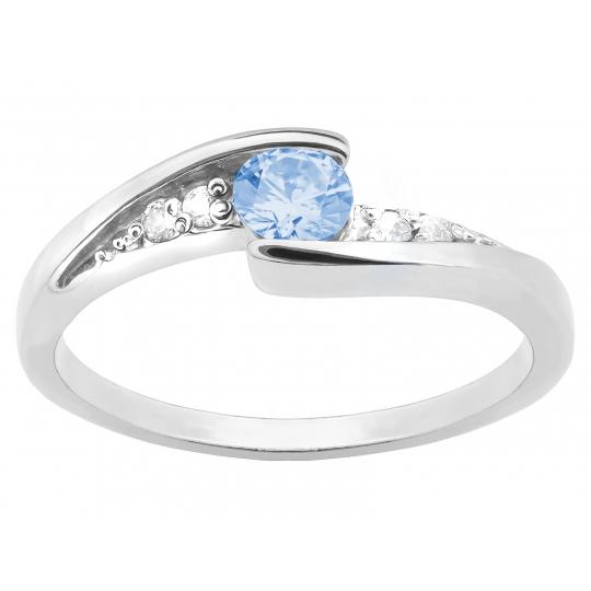 Asymetryczny srebrny pierścionek