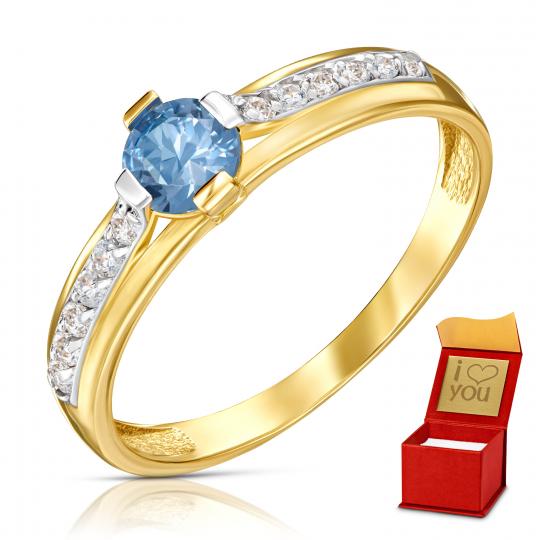 Złoty pierścionek Moonlight 1.891a