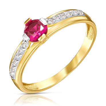 Złoty pierścionek Moonlight 1.891cr