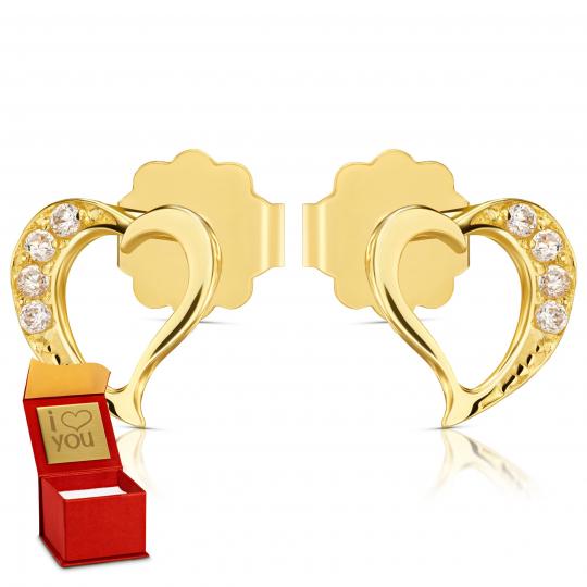 Złote kolczyki L'amour