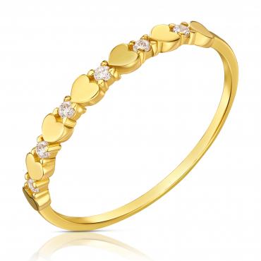 Złoty pierścionek serca