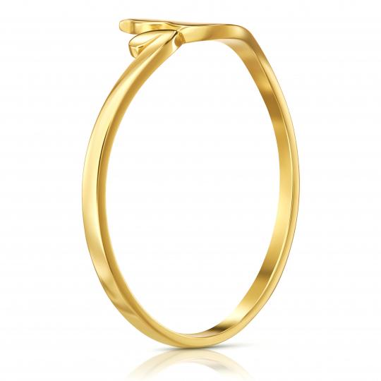 Złoty pierścionek Kotek