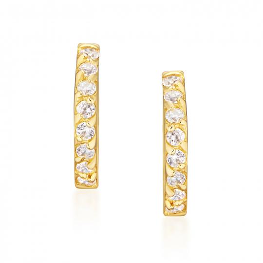 Złote kolczyki Princess Sparkle 585