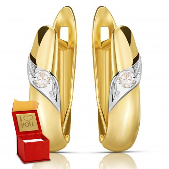 Złote kolczyki Two