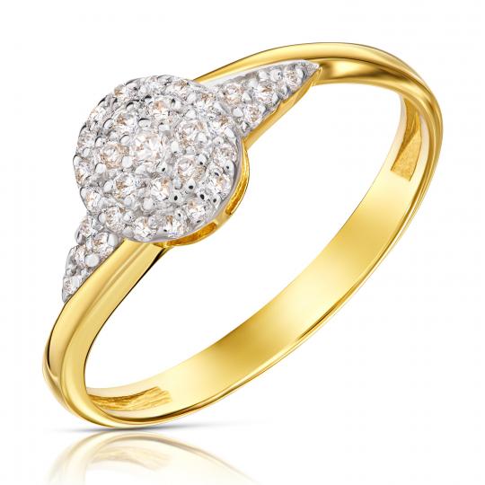 Złoty pierścionek Kwiat 585