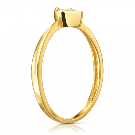 Złoty Pierścionek Heart