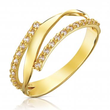 Złoty finezyjny pierścionek
