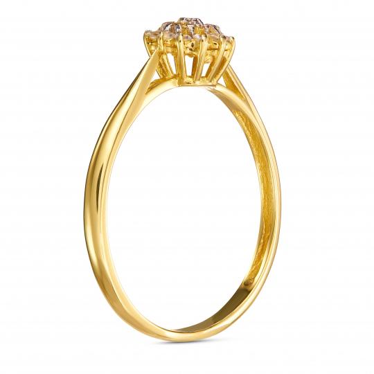 Złoty pierścionek uroczy Kwiatek