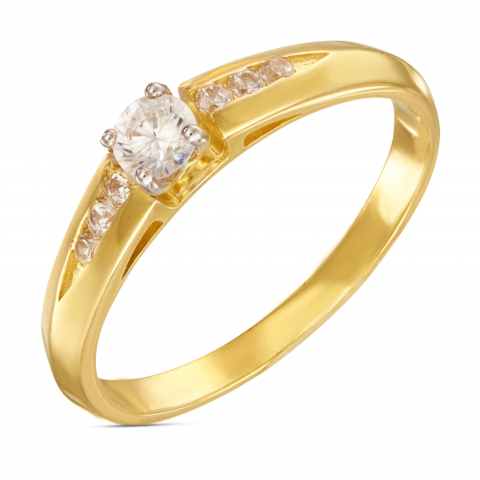 Złoty pierścionek Cyrkonie