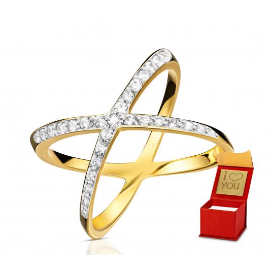 Złoty pierścionek Las Vegas próba 585