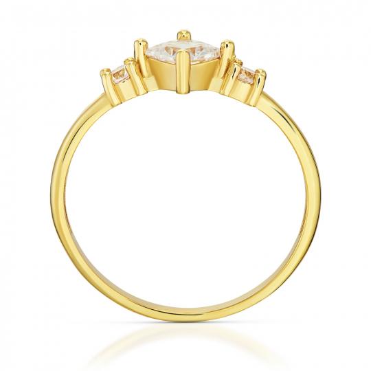 Złoty pierścionek Eric próba 585