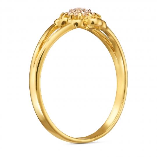 Złoty pierścionek KWIAT
