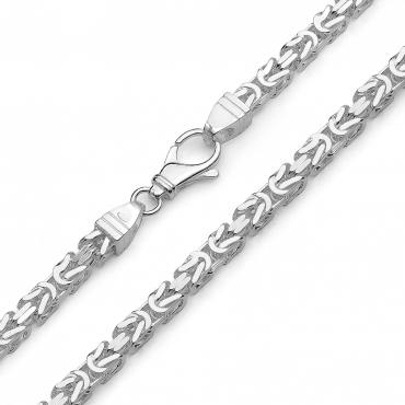 Srebrny łańcuszek BIZANTYJSKI 50 cm