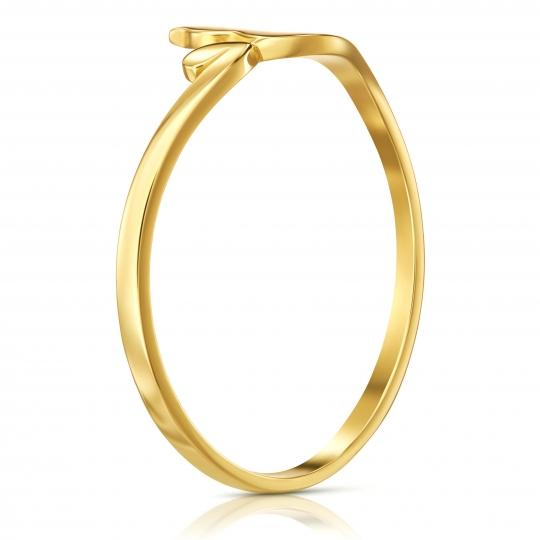 Złoty pierścionek Kotek 585