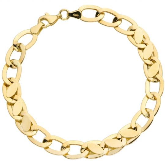 Bransoletka złota owalne puste i pełne