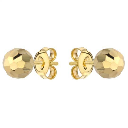 Kolczyki złote kulki party 6mm