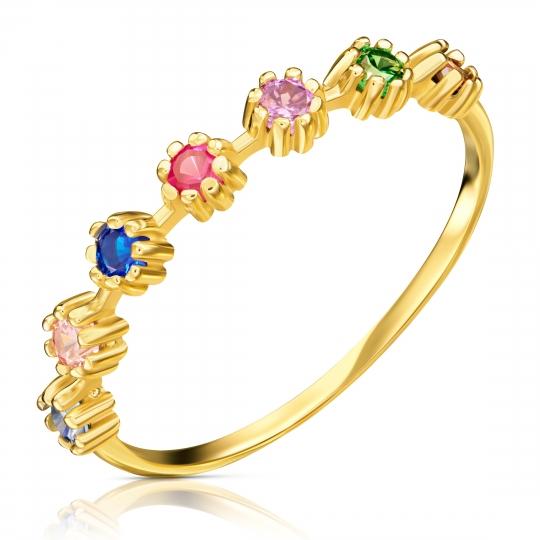 Złoty pierścionek MULTICOLOR KAMIENIE ER.0015k