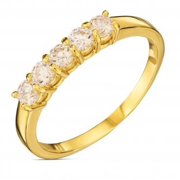 Złoty pierścionek BIAŁE KAMIENIE ER.0066