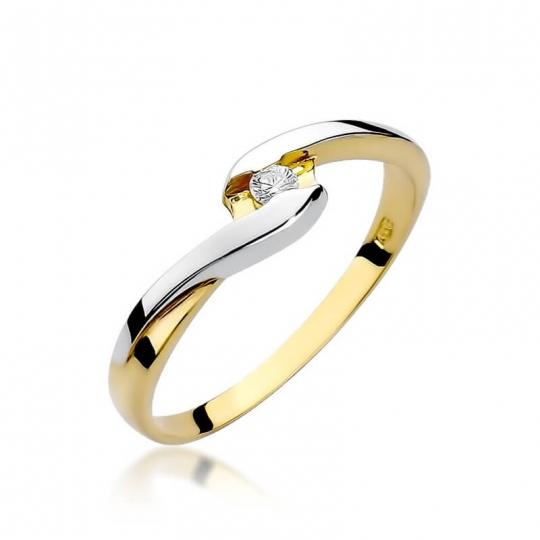 Złoty pierścionek z diamentem EY-158 0,05ct