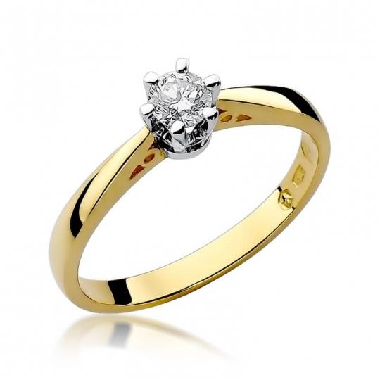 Złoty pierścionek z diamentem EY-234 0,25ct