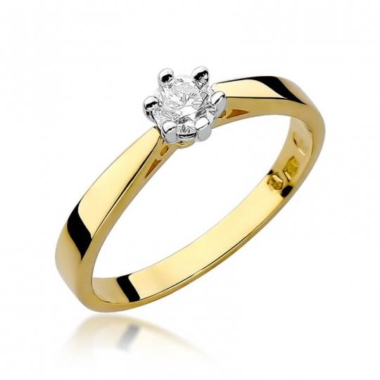 Złoty pierścionek z diamentem EY-229B 0,30ct