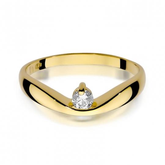 Złoty pierścionek z diamentem EY-263 0,15ct