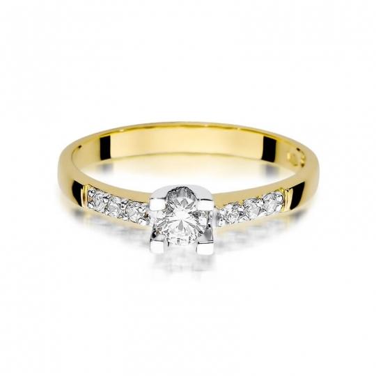 Złoty pierścionek z diamentem EY-339 0,37ct