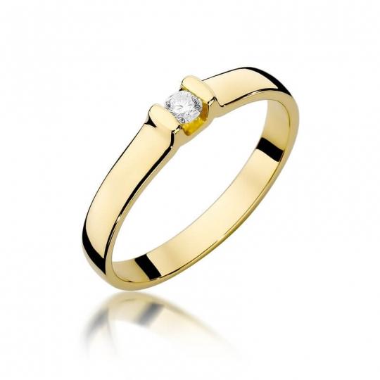 Złoty pierścionek z diamentem EY-334 0,09ct