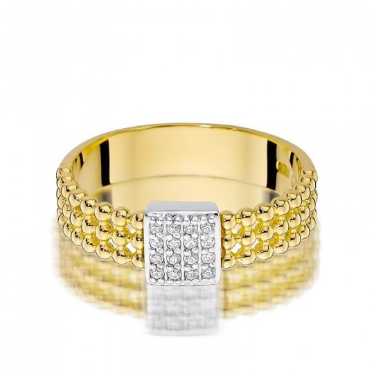 Złoty pierścionek z diamentem EY-353 0,08ct