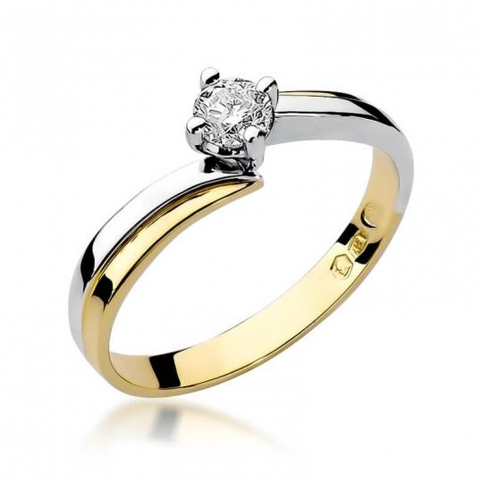 Złoty pierścionek z diamentem EY-231B 0,30ct