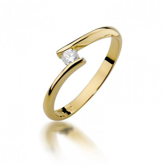 Złoty pierścionek z diamentem EY-371 0,09ct