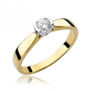 Złoty pierścionek z diamentem EY-223B 0,30ct