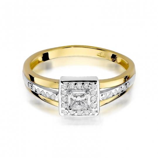 Złoty pierścionek z diamentem EY-271 0,29ct