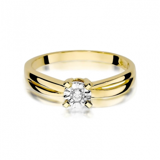 Złoty pierścionek z diamentem EY-360 0,08ct