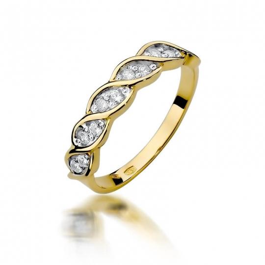 Złoty pierścionek z diamentem EY-349 0,20ct