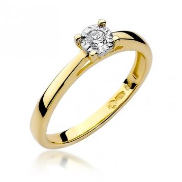 Złoty pierścionek z diamentem EY-7 0,08ct