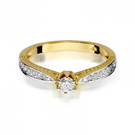 Złoty pierścionek z diamentem EY-202 0,30ct