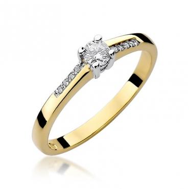 Złoty pierścionek z diamentem EY-258 0,19ct