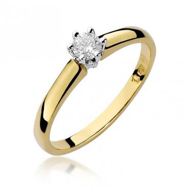 Złoty pierścionek z diamentem EY-317 0,20ct