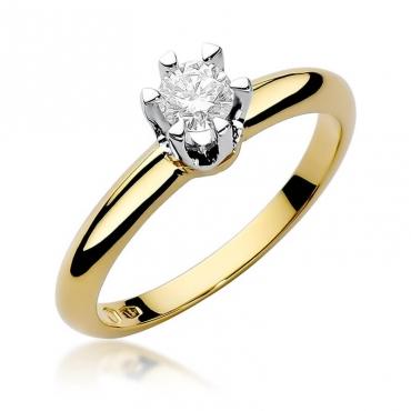Złoty pierścionek z diamentem EY-267 0,30ct