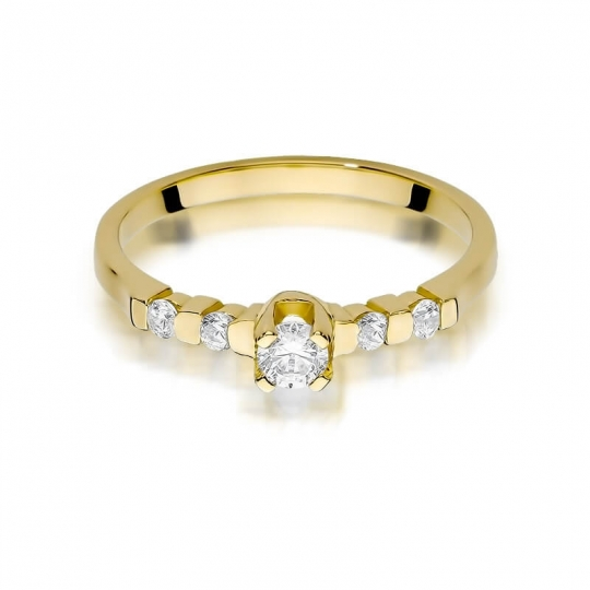 Złoty pierścionek z diamentem EY-384 0,35ct