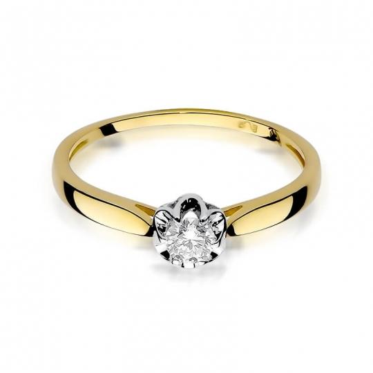 Złoty pierścionek z diamentem EY-62 0,15ct