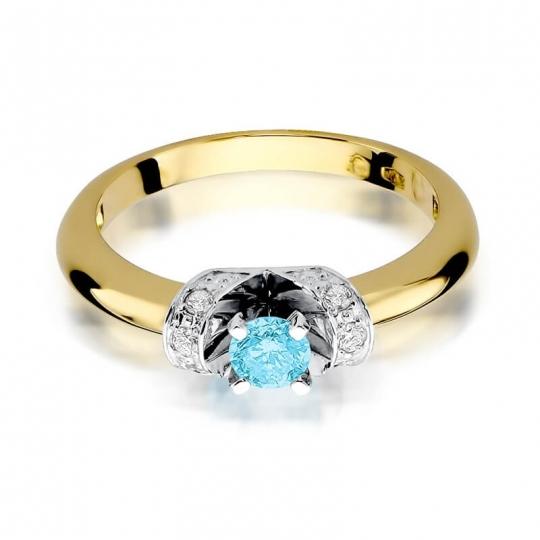 Złoty pierścionek z diamentem EY-43 topaz
