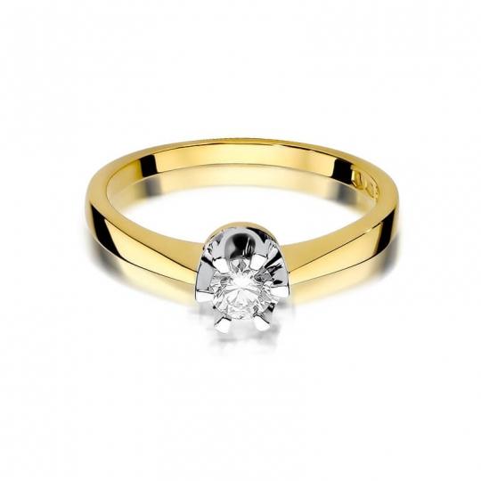 Złoty pierścionek z diamentem EY-408 0,25ct